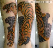 Mosher tiger tattoo by micaeltattoo
