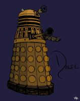 Dalek Colour by IBelongToTheDoctor