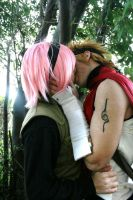 narusaku: in the forest by FairyScarlet