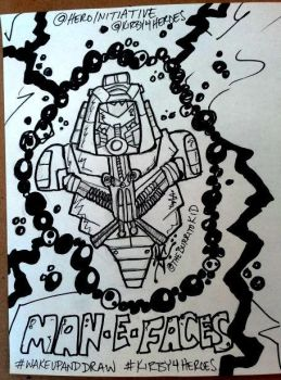 MOTU Man-E-Faces Kirby4Heroes WakeUpAndDraw by MarkG72