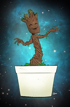 Baby Groot! by JustinPeterson