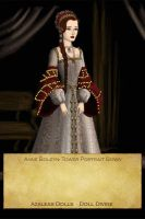 Anne Boleyn-Tower Portrait Gown by EriksAngelOfMusic22