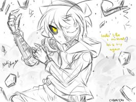 [Doodle] Cyber!cry by Nadi-Chan