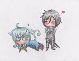 Sebby loves Kitty Ciel by kittykathats