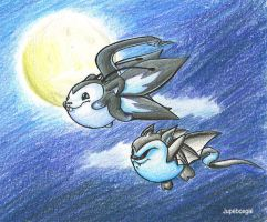 Moonlit flight by Jupeboxgal