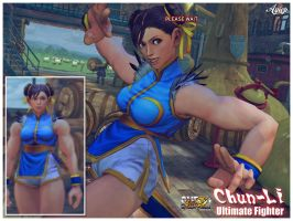SSFIV-AE: CHUN-LI ULTIMATE FIGHTER by Ayiep27