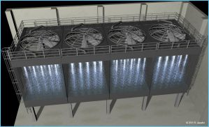 Cooling Tower Model 3d by reyjdesigns
