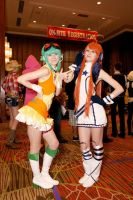 Gumi and Miki at A-kon23 by Death-the-Girl88