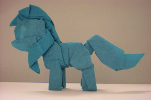 My Little Origami Pony - Lyra by Cahoonas