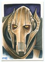 General Grievous Sketch Card Commission by Erik-Maell