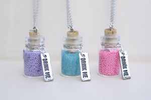 Drink Me Bottle Necklaces by MonsterBrandCrafts