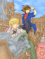 Roxas and Sora by stephie-anna