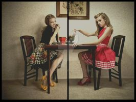 Stepford Dolls - Diptych by darkctyle