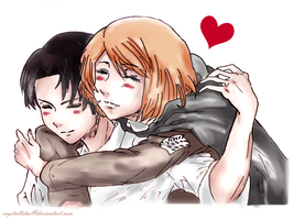 Attack On Titan Rivaille and Petra Rall by Crystallstar26