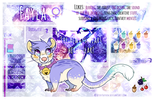 F a y l a Reference Sheet by Fayven