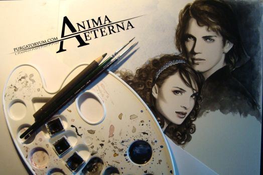 Anakin and Padme - WIP by AnimaEterna