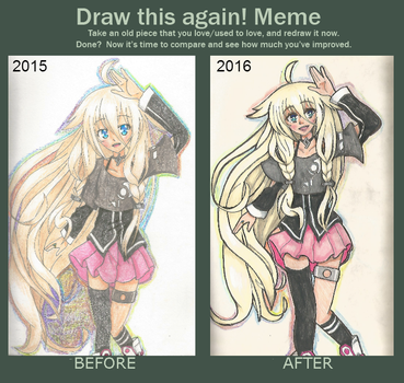 Draw this Again! Meme: IA by MiyaginoAsakura
