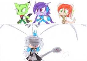 Team Lilac vs Bloody Marie by sonic4ever760