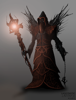 Character concept art: Dark mage by Laggtastic