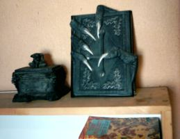 Gothic Book and Trinket Box by XionKnightmare-Stock