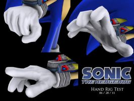 Sonic Hand Rig Test by CalicoStonewolf