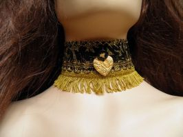 Steampunk-Victorian choker PCCH24 by JanuaryGuest