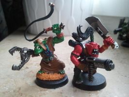 some of my old orks 3 by skincoffin