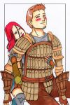 Alistair + Cousland by LadyCyco