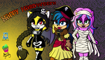 Friends at Halloween - Collab by sheenathehedgehog