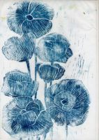BLUE POPPIES by splintergirl