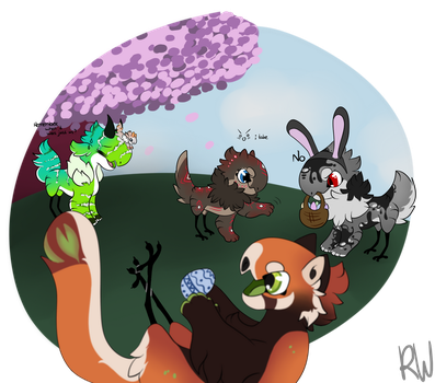 FunZone April: Happy Easter by RoscoeWolfie
