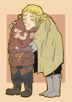 Legolas and Gimli commission by coeforoi
