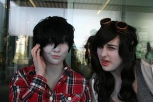 Marshall Lee and Marceline by Rachell-Emma