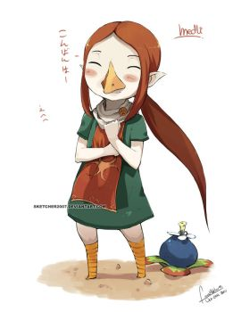 Medli from the Dragon Roost by faustsketcher