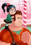 Ralph and Vanellope by Zimeta