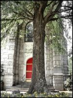 The Church and Tree by stitch52481