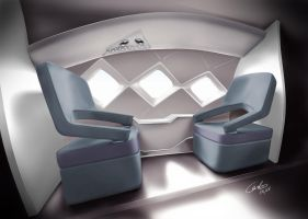 Executive Jet interior prop by Carloske