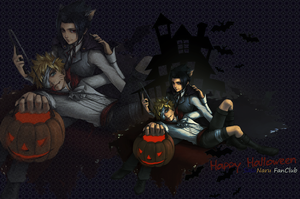 Wallpaper SasuNaru Halloween by Natzabel