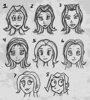 Sketches - Different Face Styles by hooksnfangs
