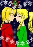 EdxWinry under the Mistletoe by TheArtgrrl