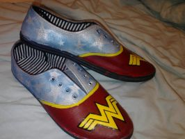 Wonder Woman Shoes by leighna