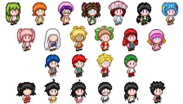 All characters' sprites by puremrz