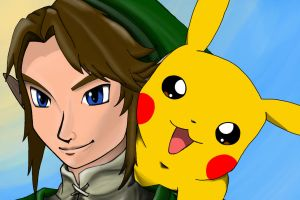 Link and Pikachu by Elektrafying
