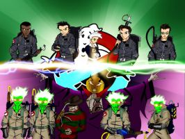 ghostbusters vs. ghostbusters by chaoslanternxXx