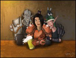 Friends in the Tavern by sir-ryken
