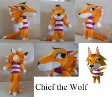 Chief the Wolf Plush Doll by TatsuoMizushima