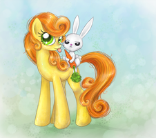 Angel on (Carrot) Top by MunaDrake