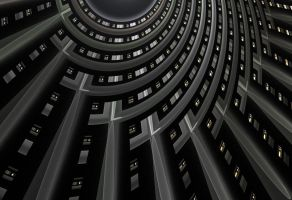 high-rise courtyard by jost1