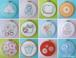 4 inch embroideries by merwing
