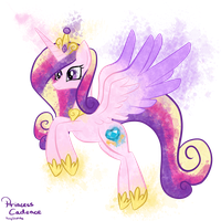 MLP: Princess Cadence Splash by PonySketchy
